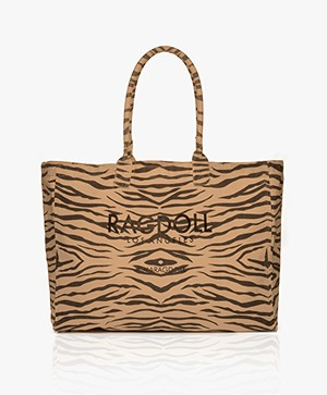 Ragdoll LA Holiday Canvas Zebra Tas - Bruin
