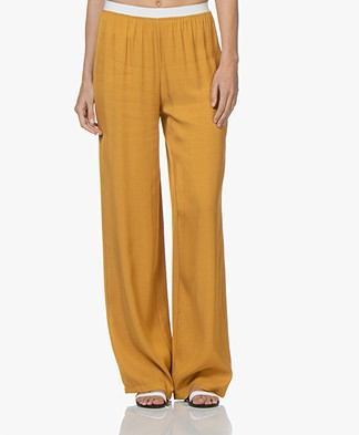 BY-BAR Dorris Loose-fit Twill Broek - Honey Bee