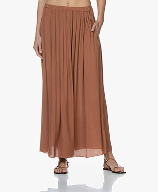 BY-BAR Linde Viscose-Crêpe Maxi Rok - Copper