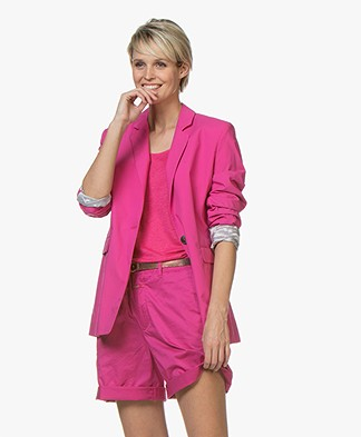 Closed Alby Cotton Poplin Blazer - Magenta