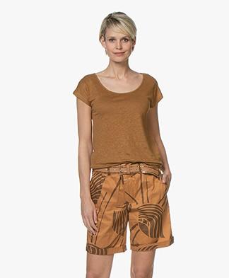 Kyra & Ko Sharon Linen T-shirt - Coconut