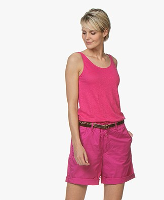 Closed Linnen Tanktop - Magenta