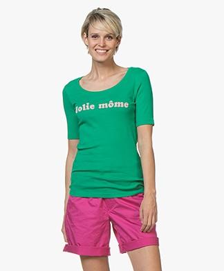 La Petite Française Toinette Print T-shirt - Green