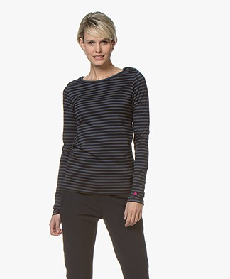 Plein Publique L'Agence Striped Long Sleeve - Marine/Black