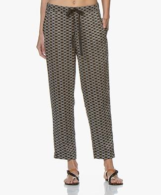 Plein Publique Le Lavande Viscose Printed Pants - Cercles