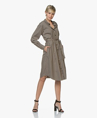 BOSS Catnyna Poplin Shirt Dress - Khaki