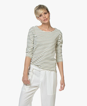 Plein Publique Striped Long Sleeve L'Aimee - Army
