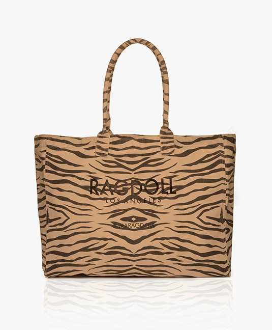 f47cfcd09c5 Ragdoll LA Holiday Zebra Canvas Bag - Brown - holiday bag a-2zb | zebra