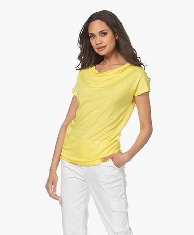Kyra & Ko Alita Linnen Jersey T-shirt - Mimosa