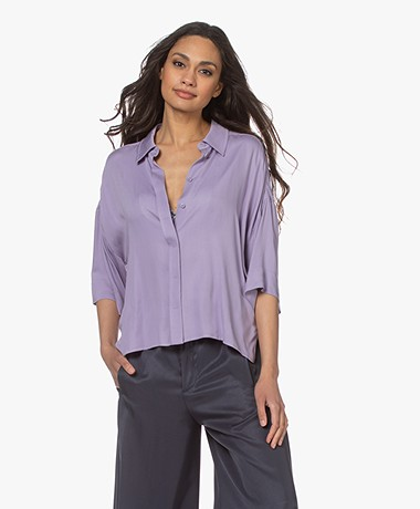Drykorn Therry Viscose Blouse - Paars