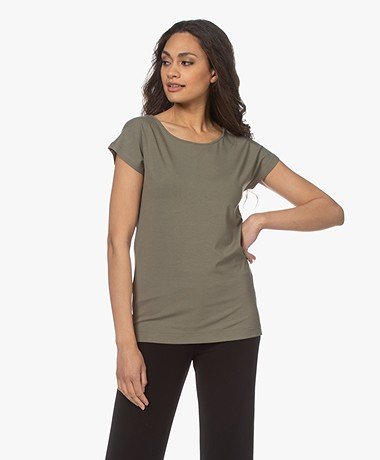 Kyra & Ko Dedina Viscose T-shirt - Green Moss