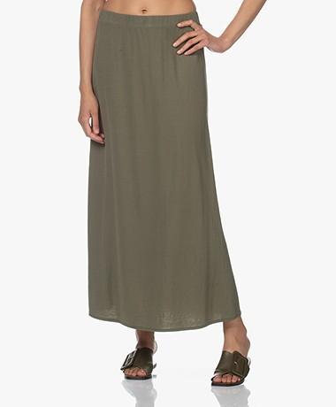 Kyra & Ko Elles Piqué A-line Skirt - Green Moss