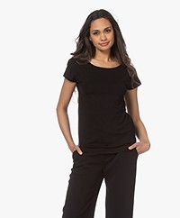 Kyra & Ko Dedina Viscose T-shirt - Zwart