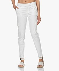 Josephine & Co Lorette Katoenmix Broek - Off-white