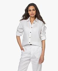 Resort Finest Daniela Linen Shirt - White