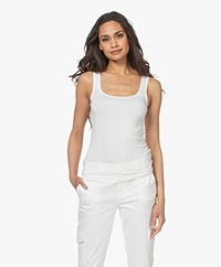 no man's land Basic Viscose Top - Ivoor