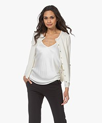 Resort Finest Lucca Cashmere Basic Vest - Ecru