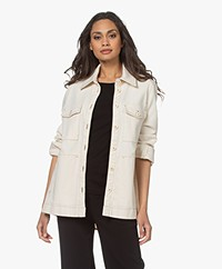 Drykorn Nathen BCI Cotton Jacket - Ecru