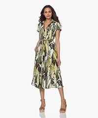 Kyra & Ko Lynn Linen Print Fit & Flare Midi Dress - Mimosa