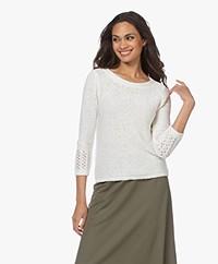 Kyra & Ko Lineke Tape Yarn Sweater - Warm White