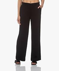 Kyra & Ko Nila Stretch Crêpe Pantalon - Zwart