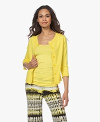 Kyra & Ko Malin Short Cotton Blend Button-through Cardigan - Mimosa