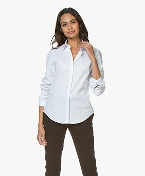 Joseph Edith Poplin Blouse - Wit