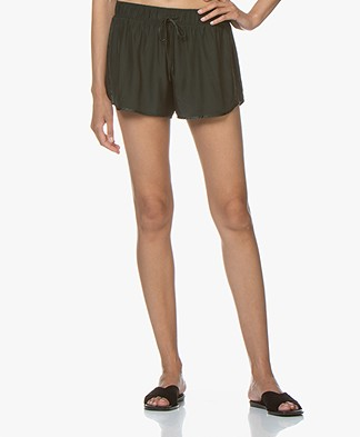 James Perse Silk Charmeuse Shorts - Gars