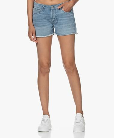Denham Monroe Denim Shorts - Mid Blue