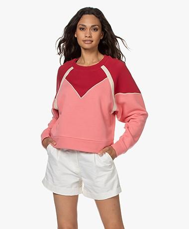 ba&sh Brick Sweater with Piping Detailing - Rose