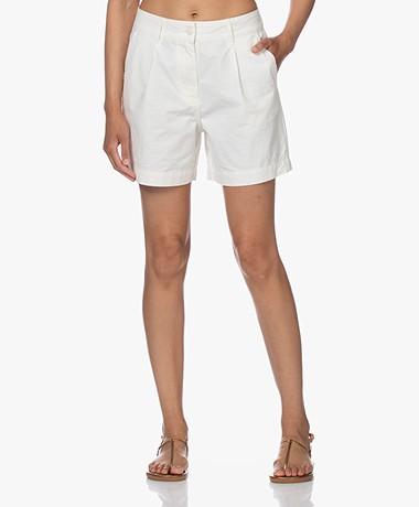 Denham Irene Cotton Bermuda Shorts - White