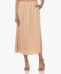 American Vintage Widland Crepe Satin Midi Skirt - Amaretto