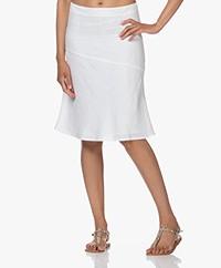 Belluna Horizon Linen A-line Skirt - White