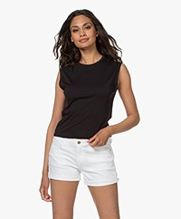 FRAME Le High Rise Muscle Tank Top - Black