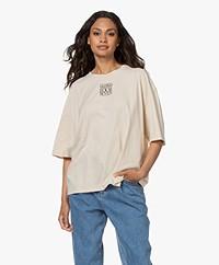 Closed Oversized Organic Cotton Print T-shirt - Almond Cream