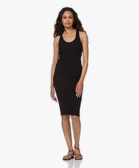 bassike Cross Back Cotton Jersey Dress - Black