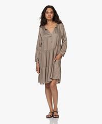 Plein Publique La Flora Viscose Printed Dress - Brown/White/Black