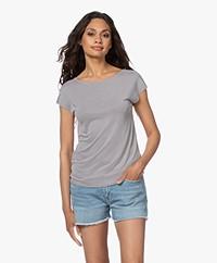 Plein Publique Le Calin Cupro T-shirt - Silver Grey