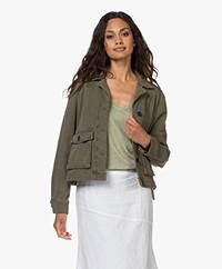 Drykorn Butea Cotton Blend Twill Jacket - Green
