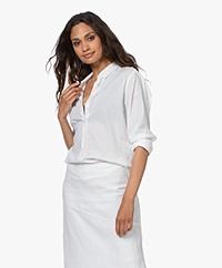 Belluna Velvet Poplin Shirt - White