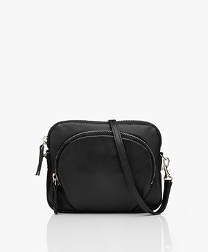 Filippa K Mini Leren Tas - Zwart