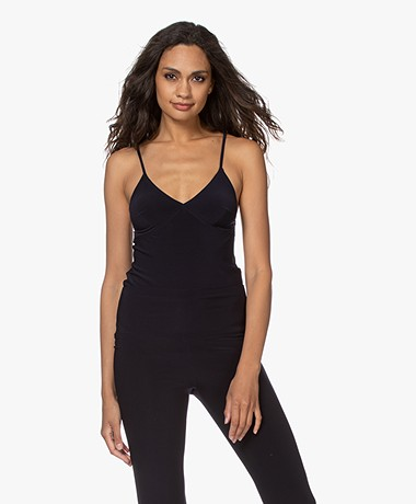 Norma Kamali Tech Jersey Slip Top - Midnight