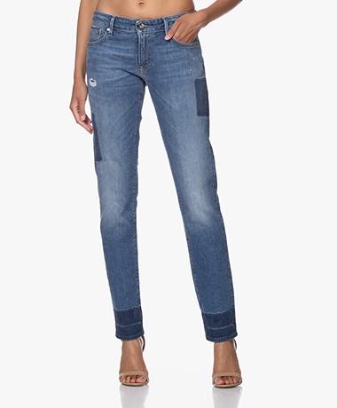 Denham Monroe Golden Rivet Boho Jeans - Blue