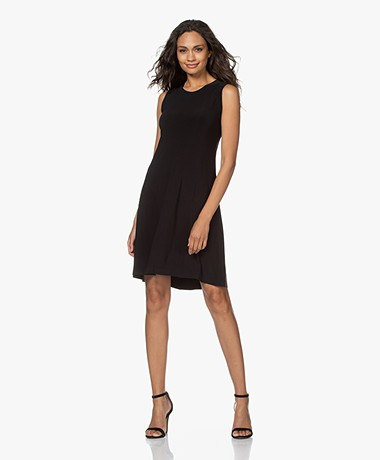 Norma Kamali Sleeveless Swing Tech Jersey Dress - Black