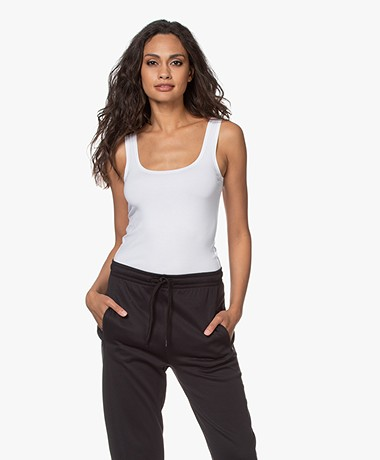 no man's land Basic Viscose Top - Wit