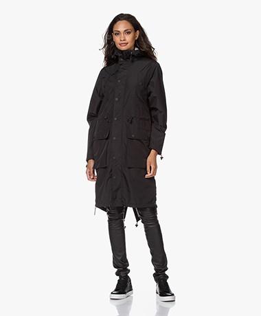 Maium Rainwear 2-in-1 Parka Lichtgewicht Regenjas - Mat Zwart