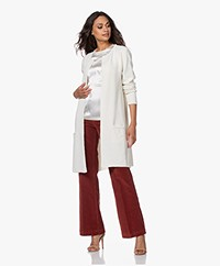 Sibin/Linnebjerg Mary Merino Blend Open Cardigan - Off-white