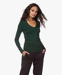 Majestic Filatures Soft Touch T-shirt with V-neck - Scarabé