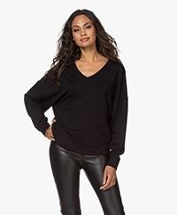 Majestic Filatures French Terry Jersey Sweatshirt - Zwart