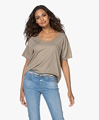 Rag & Bone The Gaia Organic Pima Cotton T-shirt - Aged Sage